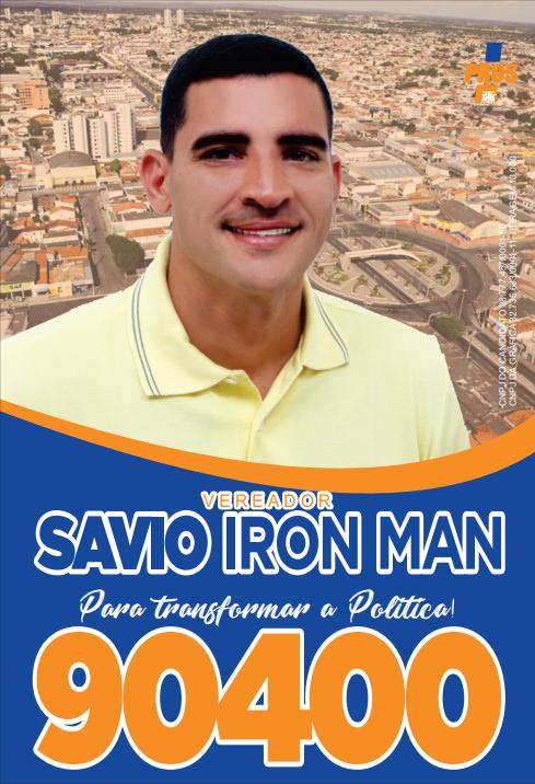 Santinhos - Vereador Savio Iron Man